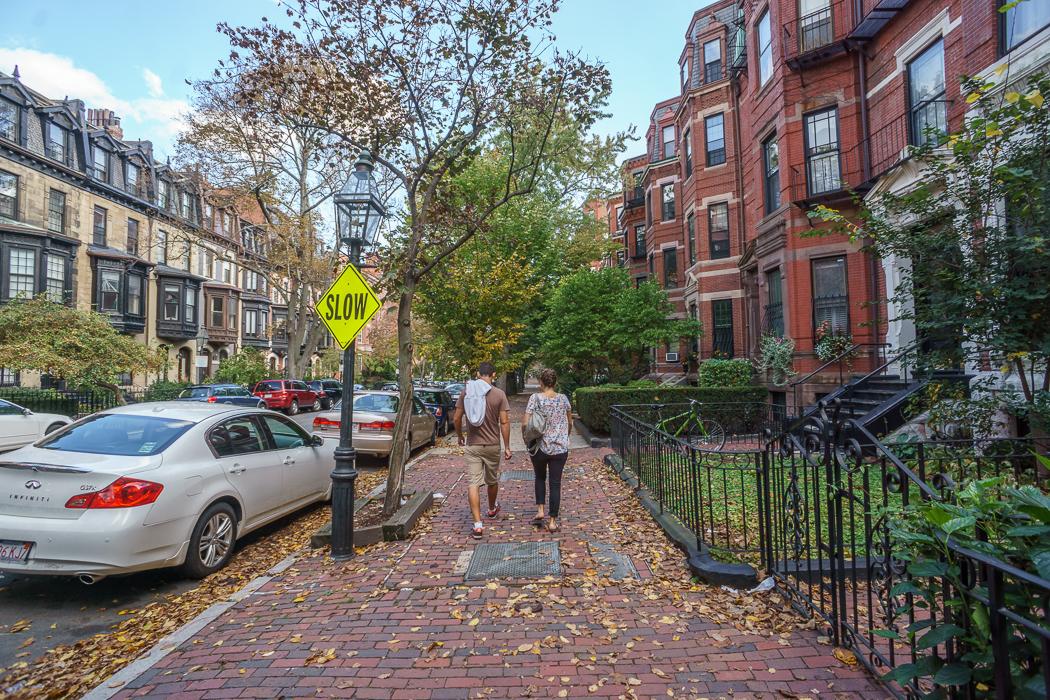 Fall Boston Marlborough Street