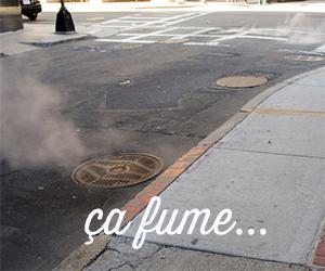 fumée des égouts aux Etats-Unis
