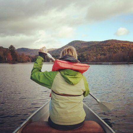 Instagram Mathilde Vermont canoe