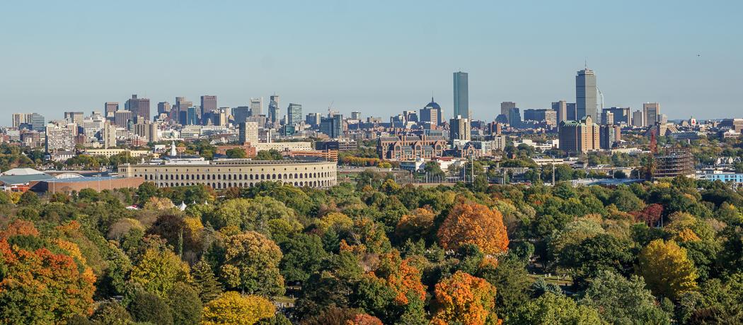 Mount Auburn - vue de Boston