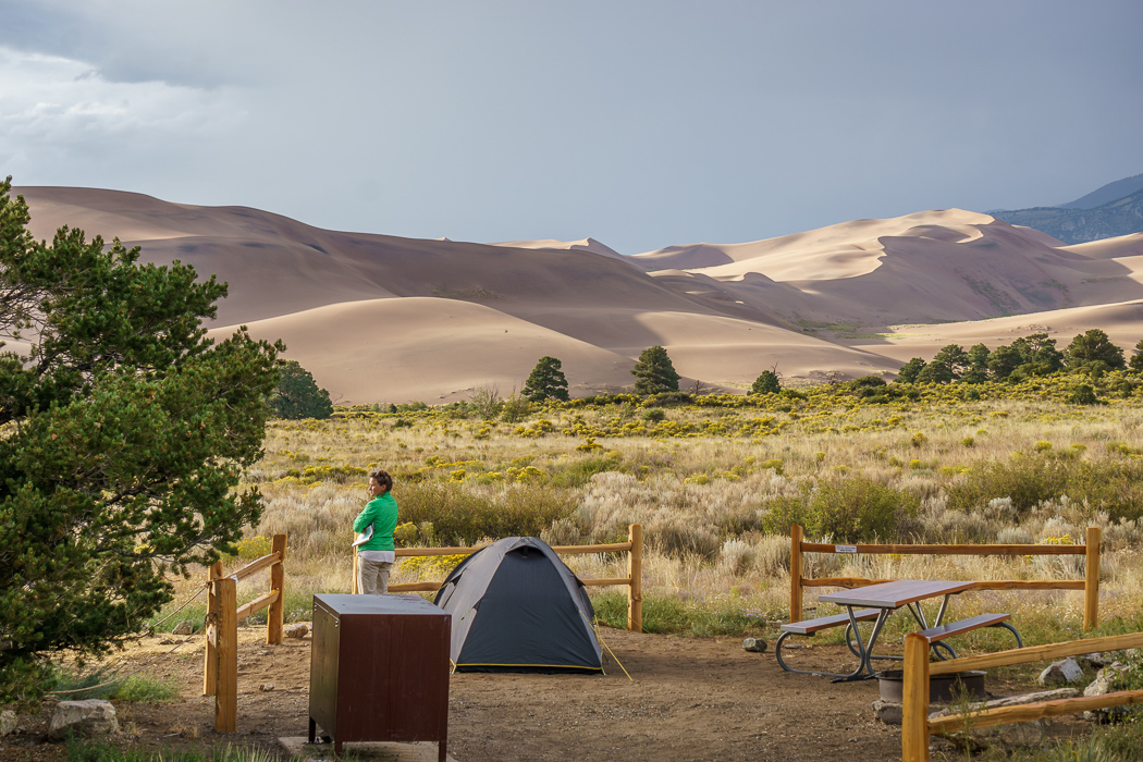 great-sand-dunes colorado- - faire du camping face aux dunes