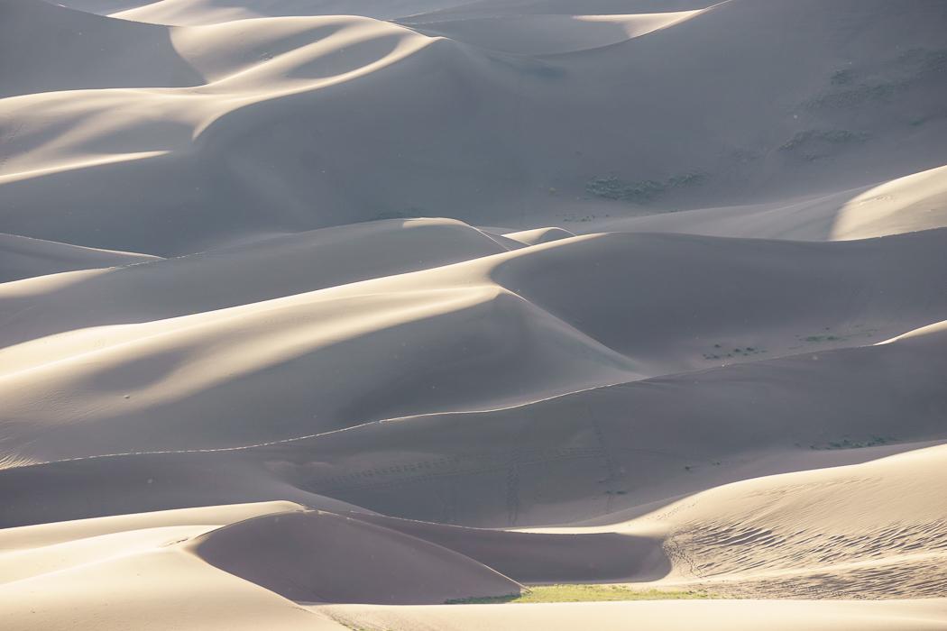 Tout doux les dunes de Great Sand Dunes - Colorado
