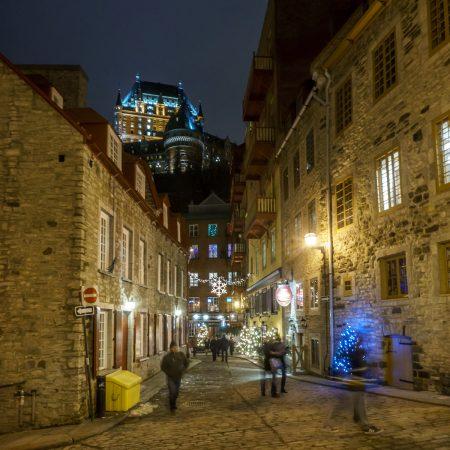 Voyage Road trip Québec le chateau Frontenac de nuit