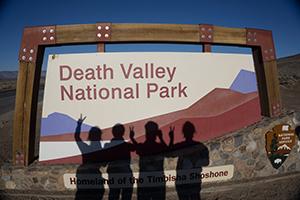 blog trip californie panneau d'entrée dans la Death Valley