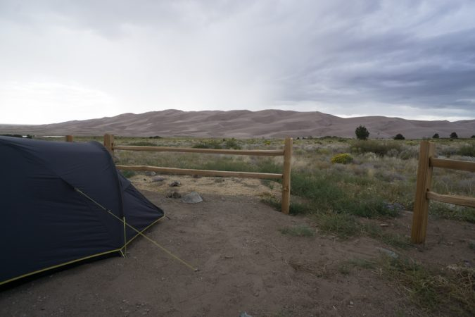 camping aux Etats Unis vue de Great Sand Dunes Colorado