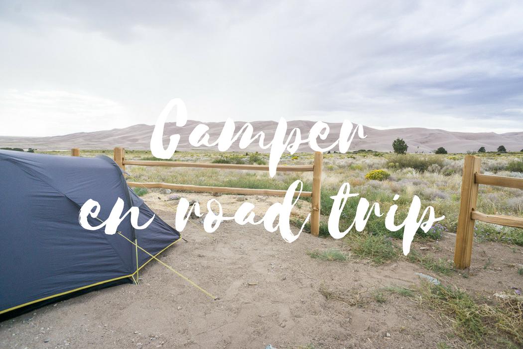 Faire du camping en road trip