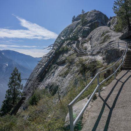 blog trip californie MOro Rock sequoia chemin