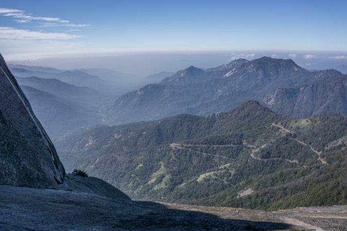 blog trip californie MOro Rock sequoia chemin brume