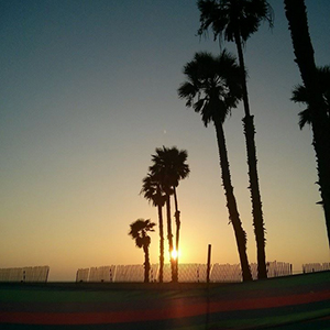sunset dans un transat Los Angeles - www.maathiildee.com