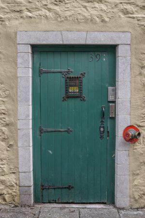Visite de la ville de Quebec- rue du petit champlain - vieille porte