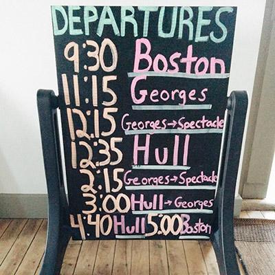 Horaires de ferry Boston Island