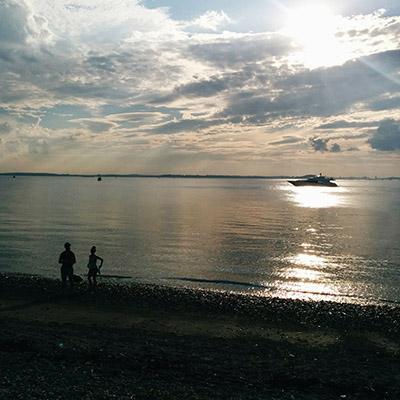 Sunset Boston Island