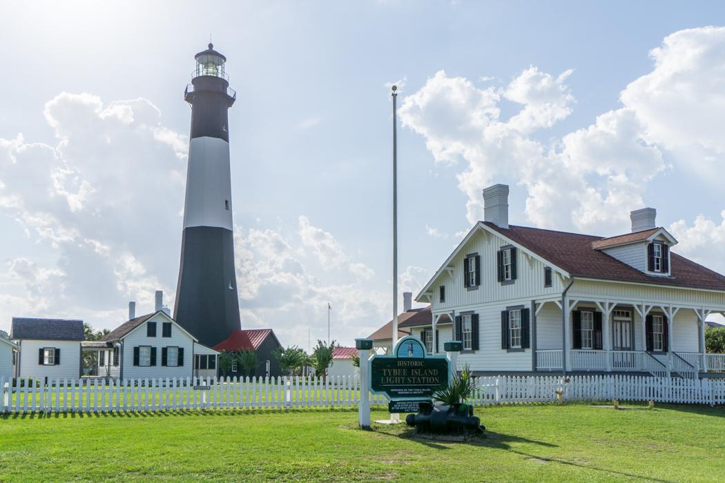Le phare de Tybee Island la plage Savannah-1