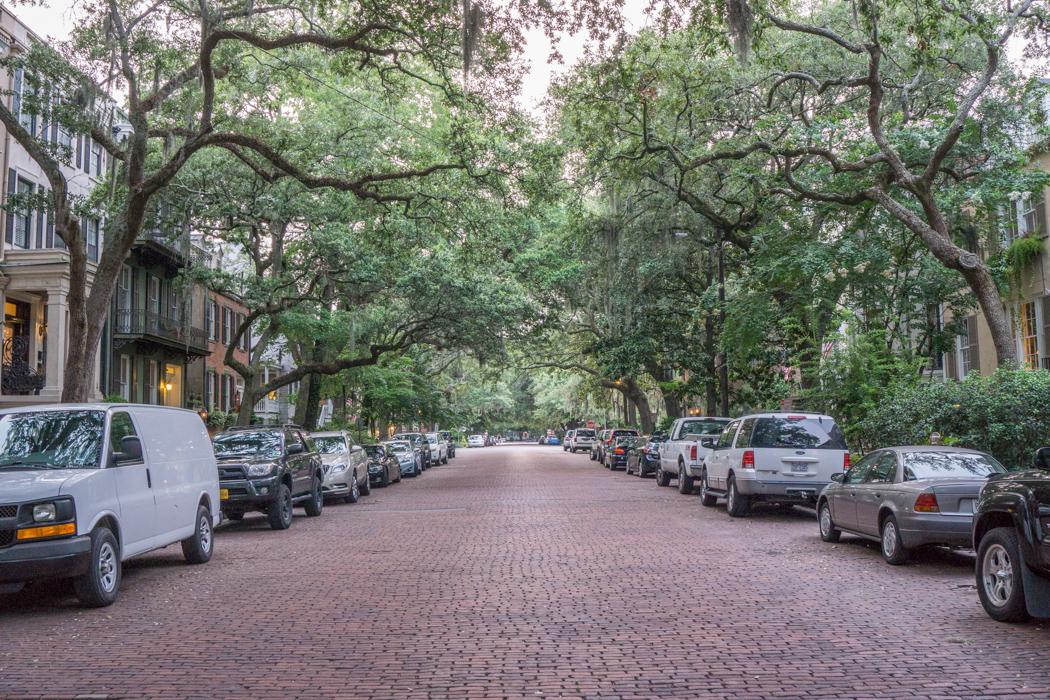 Visiter Savannah Georgie - rue pavée
