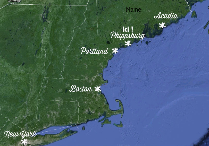 Carte du weekend dans le Maine