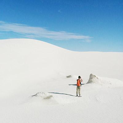 Les dunes blanches du nouveau mexique
