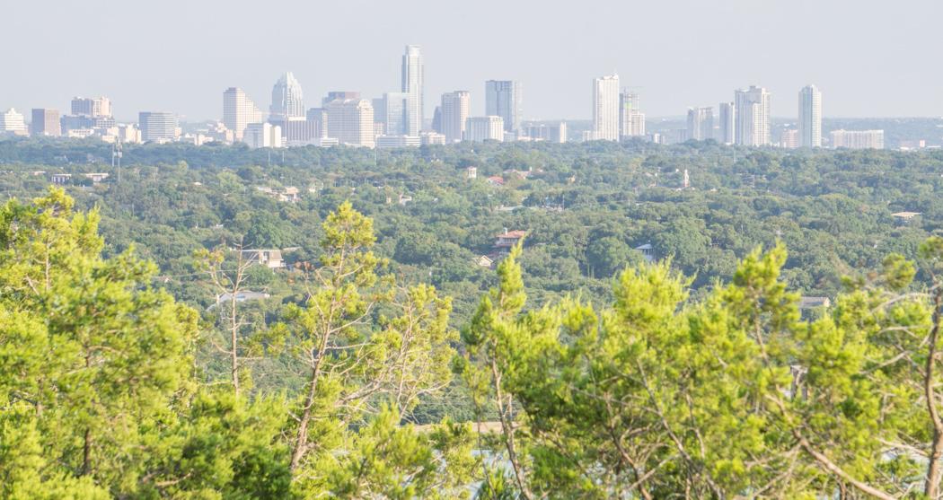 Austin texas - Vue sur le downtown  Mont Bonnell