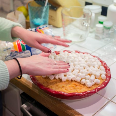 marshmallow + patates douces - Thanksgiving