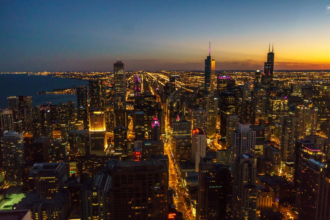 Visiter Chicago - la ville le soir