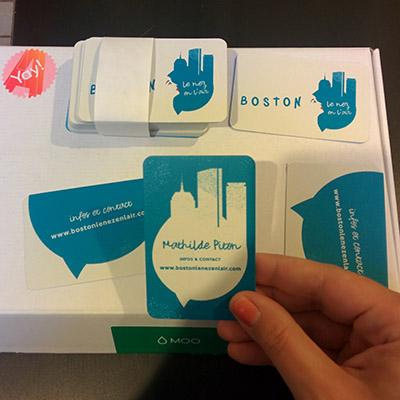 cartes de visite boston le nez en l'air