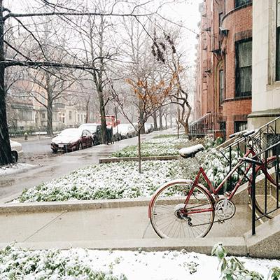 Vélo avant la neige