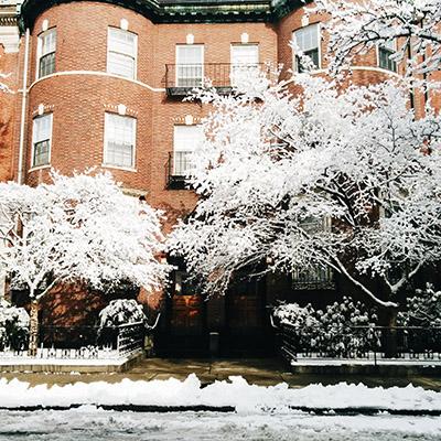 La neige à boston