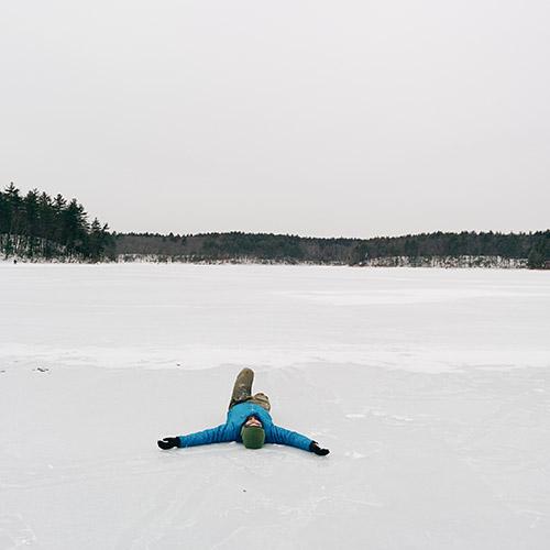 Walden Pond étang gelé