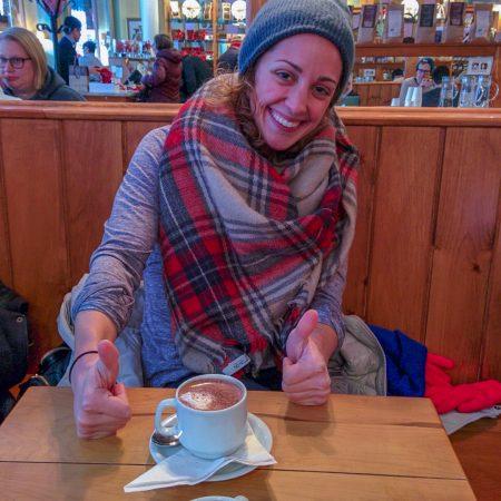 Vivre a Boston - hot chocolate avec Trish