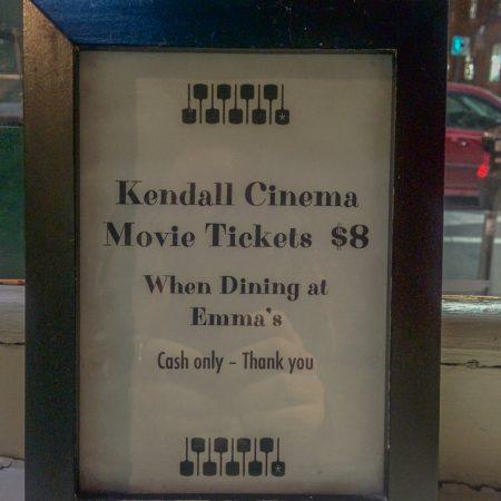 Vivre a Boston - Kendall Theater et pizza Emma