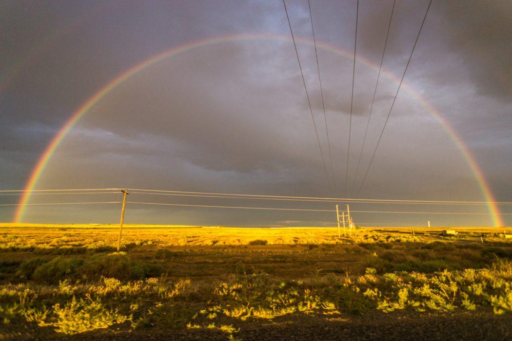 arc en ciel Bisti Badlands Nouveau Mexique-1