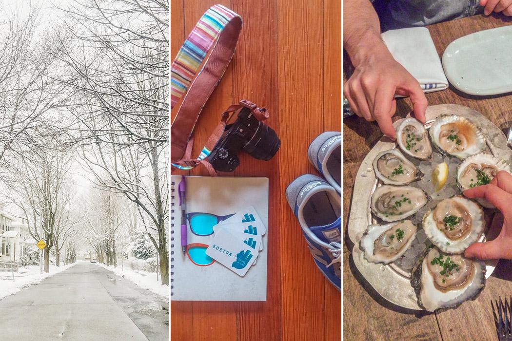 boston // la neige, visiter la ville, manger des huîtres