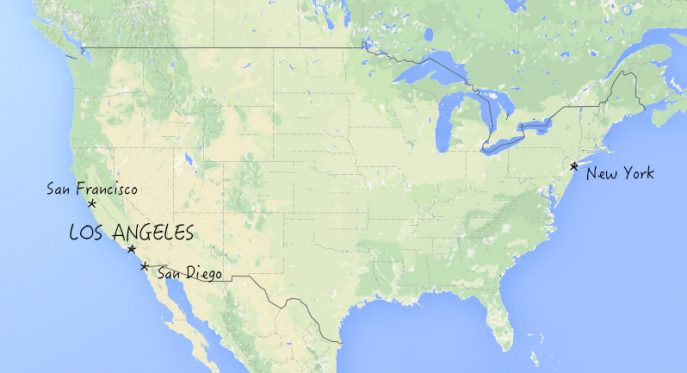 los angeles carte etats unis - Image