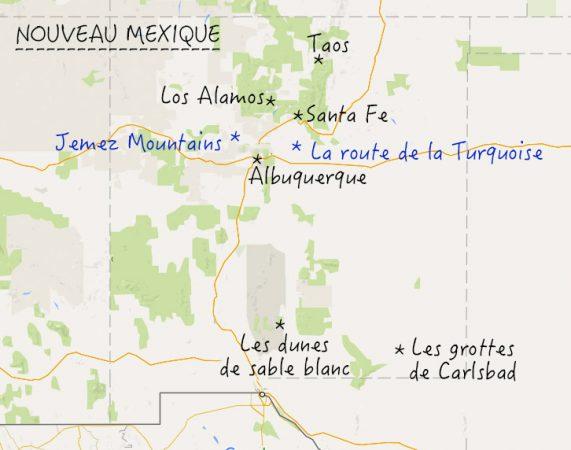 nouveau mexique carte