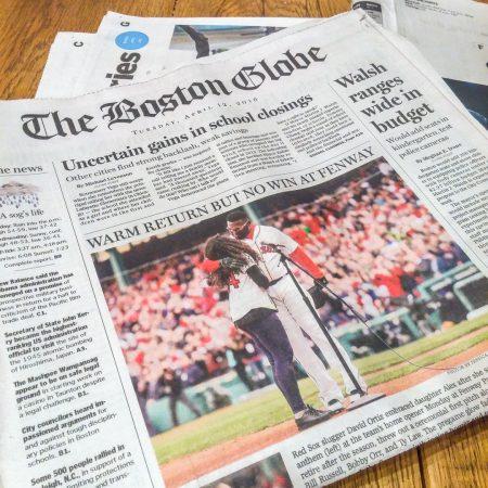 Vivre a boston Boston Globe saison Red Sox