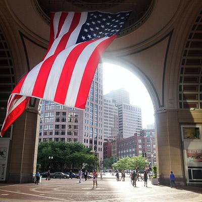 drapeau americain boston