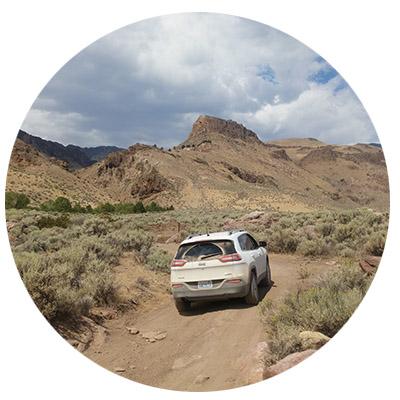 Jeep road trip desert