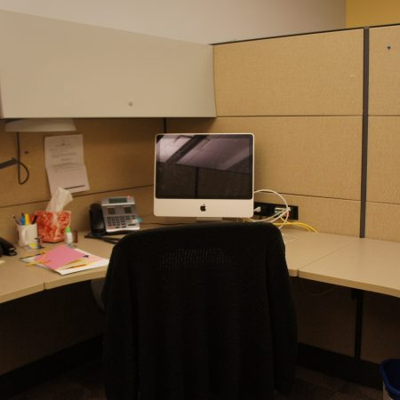travailler dans un cubicle