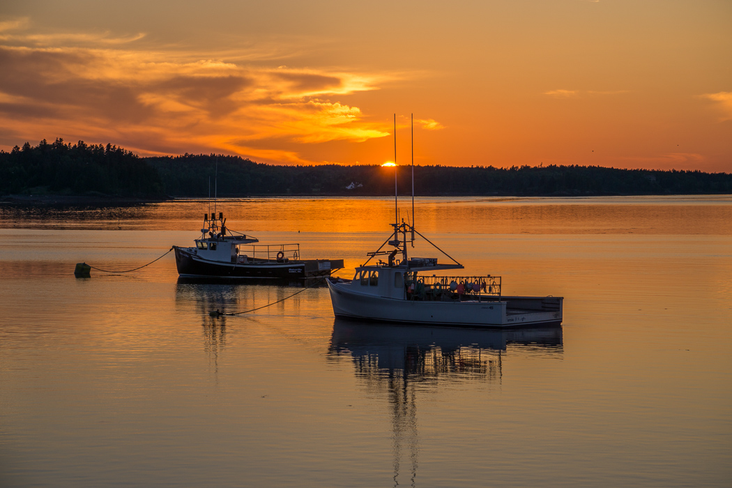 lubec maine sunset